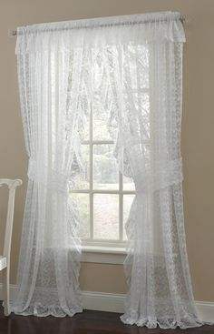 Priscilla Lace Curtains.  I bought these for my living room and dinning room.  Love them!!!