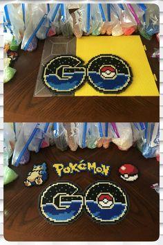 Pokemon Go Logo Perler Beads by jnjfranklin