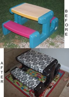 love this idea, I always see faded icky kids' tables at garage sales, now i know how to clean one up! by charmaine