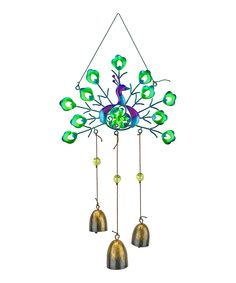 Look what I found on #zulily! Peacock Bell Wind Chime by Red Carpet Studios #zulilyfinds