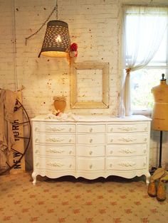 Painted Cottage Chic Shabby Romantic White by paintedcottages, $595.00