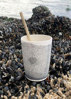 Eco-friendly tableware with Coral print. design: Sophia Bernson