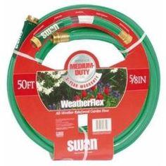 "Weather Flex Garden Hose, 5/8"""""""" x 50', with Standard Water Threads, Reinforced, Kink Resistant"