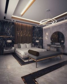 Master bedroom on Behance Bedroom False Ceiling Design, Master Bedroom Interior, Room Design Bedroom, Luxury Bedroom Design, Modern Master Bedroom, Bedroom Furniture Design, Bedroom Layouts, Best False Ceiling Designs, Luxurious Bedrooms