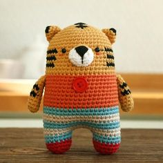 tiger crochet pattern - amigurumi - animal crochet pattern - symbol pattern #affiliate
