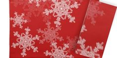 Set a Holiday Table with Christmas Snowflake Placemats and Napkins