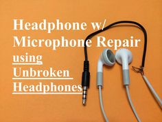 This video shows how to fix broken headphones with a microphone (TRRS Plug) using another Undamaged headphone with microphone set (TRRS Plug). I purchased my new TRRS headset at a grocery store, but I found it on Amazon (Just click the hyperlink below):  http://www.amazon.com/Sentry-Talk-Bud...