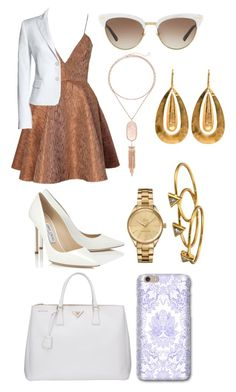 """""""business sexy"""" by genesiswagg on Polyvore featuring Joana Almagro, Canvas by Lands' End, Jimmy Choo, Prada, Gucci, Kendra Scott, Lacoste and Gorjana"""