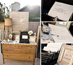 use an old typewriter as a guest book!