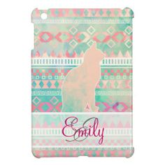 Monogram Whimsical Cat Pink Teal Aztec Pattern Case For The iPad Mini In our offer link above you will seeDiscount Deals          Monogram Whimsical Cat Pink Teal Aztec Pattern Case For The iPad Mini Review from Associated Store with this Deal...