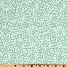 Moda In From The Cold Snowfall Mint. Designed by Kate Spain for Moda Fabrics,