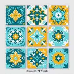 Ceramic Tile Art, Dot Painting, Nature Wallpaper, Paper Texture, Tile Patterns, Tile Design, Design Elements, Creative, Handmade