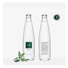 Vue Luxury Water Exudes a High-Quality Look #packaging trendhunter.com