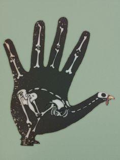 x-ray hand turkey