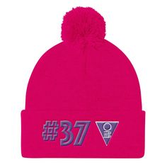 Royal Pom Pom Knit Cap
