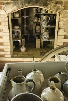 The pottery   Inside view of the kiln for the salt Glaze firing at the Genesee Country Village & Museum   Loyd Heath Photography