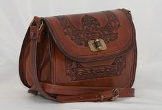 Leather Crossbody Purse Two Compartment by FromTheSouthernCross