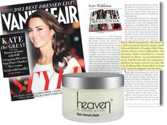 The Royal Treatment: Bee Venom Mask by Heaven. Kate Middleton uses this mask for her amazing skin.
