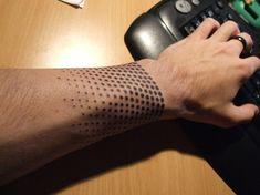 http://tattoo-ideas.us/wp-content/uploads/2013/11/Half-Tone-Tattoo.jpg Half Tone Tattoo #Armtattoos, #BlackInk, #Wristtattoos