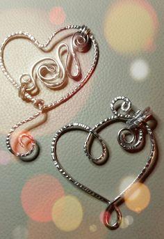 Ciondoli a Cuore wire alluminio