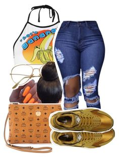 """""""1305"""" by ashley-mundoe ❤ liked on Polyvore featuring Topshop, MCM and NIKE"""