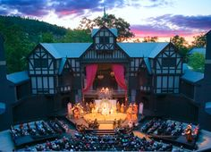 One of the oldest Elizabethan theatres in North America is found in Ashland OR. It's our favorite venue at the OSF.