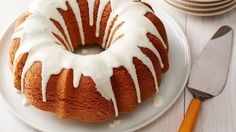 Add a mixture of cinnamon, sugar and brown sugar to yellow cake mix for an easy-to-make Bundt cake that will have your guests asking for the recipe.