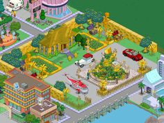 villa d'oro Simpsons Springfield, Springfield Tapped Out, Springfield Heights, The Simpsons Game, Sims, Cartoon, Adventure, Google, Villa