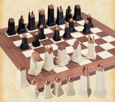 Streamline Moderne chess set. If these are big and chunky pieces <3