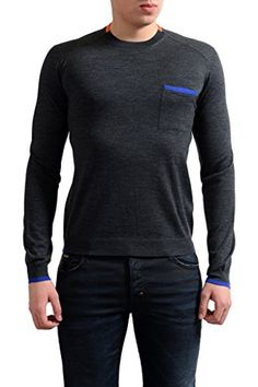 Robert Reyna Fashion Mens Wool Sweater Mens Casual O-Neck Slim Fit Casual Cashmere Sweaters