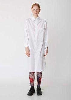 8eccea1cc7 Satin Shirt Dress - X-Small   White in 2019