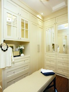 Small Closet Makeovers: light & bright makes a small closet seem bigger!