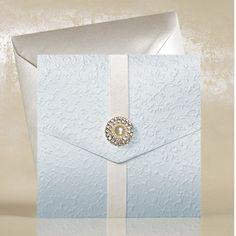 Baby Blue Pocketfold Wedding Invitations UK - WeddingSOON