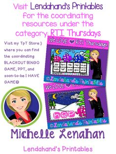 I am inviting you join me for RTI Thursdays! Collect free RTI NWF Resources for your K-2 Classrooms:)