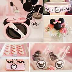 Dreamy MINNIE MOUSE First Birthday Party Ideas #Minnie