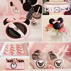 Dreamy MINNIE MOUSE First Birthday Party Ideas #Minnie