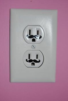 Mustached Outlets for London & her love of mustaches.