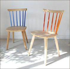copy this: partially painted chairs