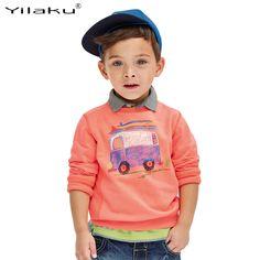 Autumn Winter Kids Cartoon T-shirt Long Sleeve Children T Shirts for Boys Sport Hoodies Children Sweatshirts 1~6 Years CG231 #Affiliate