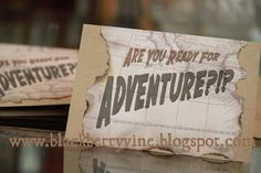 The Blackberry Vine: Are You Ready for Adventure?!?! - Indiana Jones Party Invitations