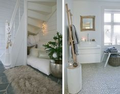 cozy nook and bathroom bliss...