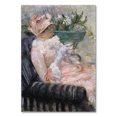 The Cup of Tea by Mary Cassatt Table Card