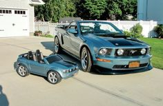 Retirement Present: The Windveil Blue '05 Mustang GT convertible you see here was Charlie Gandiosi's retirement present to himself...