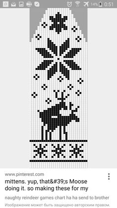 naughty reindeer games chart ha ha send to rother Knitting Charts, Knitting Stitches, Knitting Patterns, Knitting Projects, Crochet Patterns, Cross Stitch Charts, Cross Stitch Patterns, Fair Isle Knitting, Double Knitting