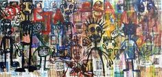 Aboudia, Untitled, 2012 - Pigozzi Collection 2014 - Contemporary African Art Collection