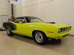 This factory promotional 'Cuda is an extremely rare car, it was the very first V Code (440-6) 'Cuda manufactured in 1971 and it is one of only six Promo 'Cudas that were built in 1971