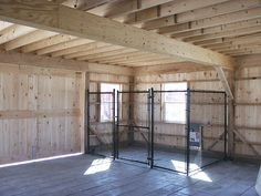 Dog kennel in the barn! Could do in the garage, looks simple enough. Dog kennel in the barn! Could do in the garage, looks simple enough. Dog Spaces, Dog Pen, Dog Rooms, Dog Play Room, Dog Boarding, Dog Houses, New Homes, Design, Diy Dog