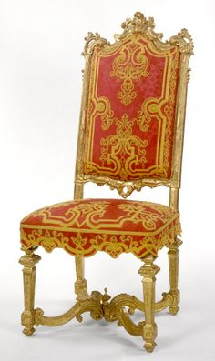 Louis XIV carved Giltwood side chair. Circa,1710.