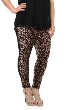 Deb Shops plus size #cheetah print #leggings  This is my friend Lairamy