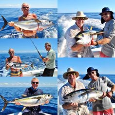 7 Tuna for our regular guests & Costa Rica residents Jim, Jerry, Dan, Eric & George yesterday aboard GOOD DAY fishing in Costa Rica. As the guys said yesterday, another terrible day in the Costa Rica old folks home! Quepos, Old Folks, Sport Fishing, Good Day, Tuna, Costa Rica, Sports, Buen Dia, Hs Sports